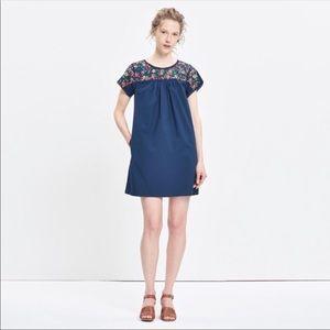 La Novia Embroidered Babydoll Dress